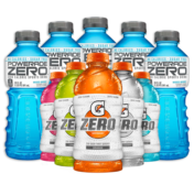 Gatorade and Powerade Zero