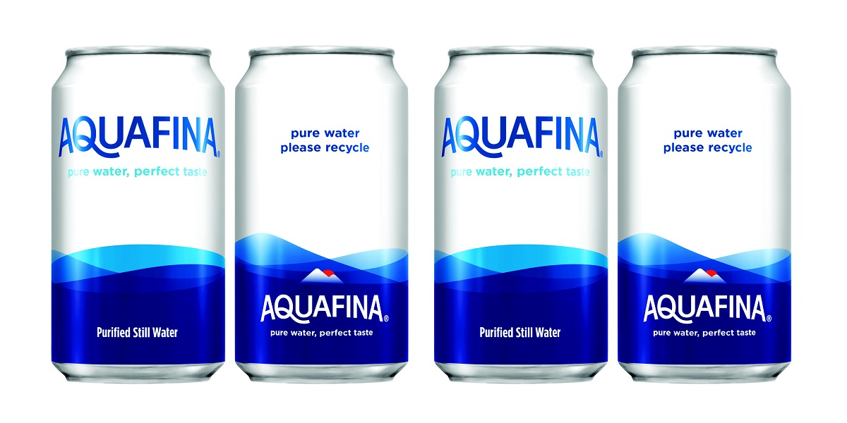 Aquafina to Test Cans for Still Water, Bubly to Drop PET for